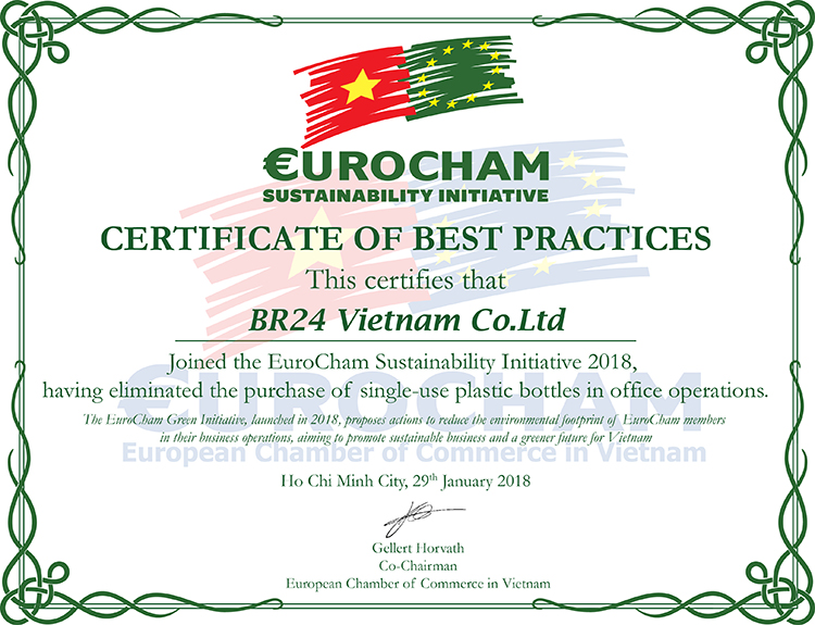 Br24 Certificate of EuroCham Sustainbility Initiative 2018