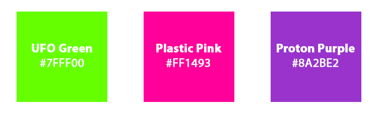 Br24 Blog Shutterstock Farbtrends 2019: Die drei Farbtrends UFO Green, Plastic Pink, Proton Purple mit Hexadezimalcodes