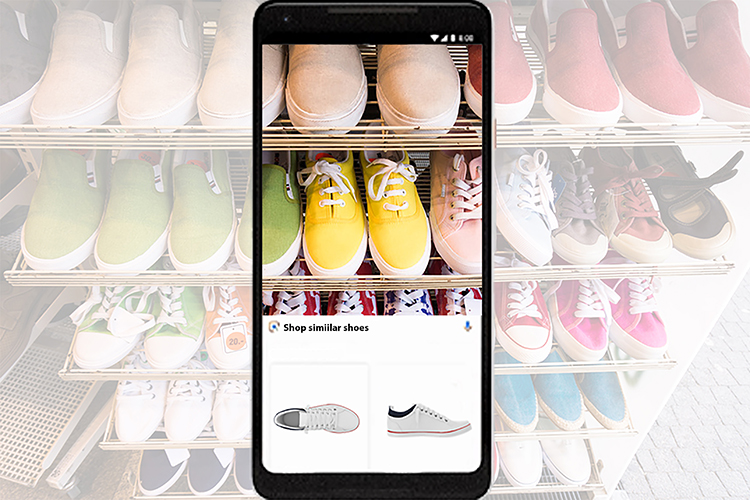 Br24 Blog Google Lens Funktionen: Similar Style Funktion erkennt Schuhe in Echtzeit und zeigt ähnliche Produkte an
