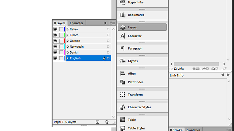 Br24 Blog Layout language versions: Layers in InDesign for different languages