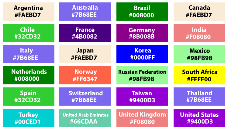 Br24 Blog The Shutterstock Color Trends 2021: Overview of the global trend colors for 24 countries