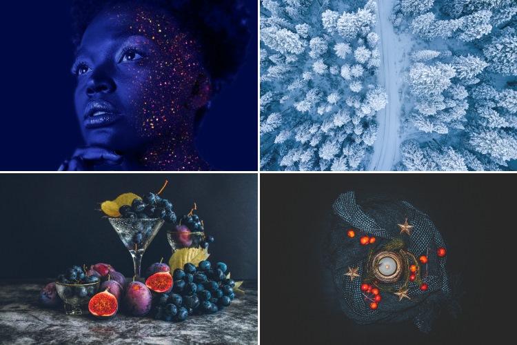 Br24 Blog 4 Farbtrends für das Weihnachtsgeschäft 2020: Beispielbilder für den Farbtrend tiefe Blautöne