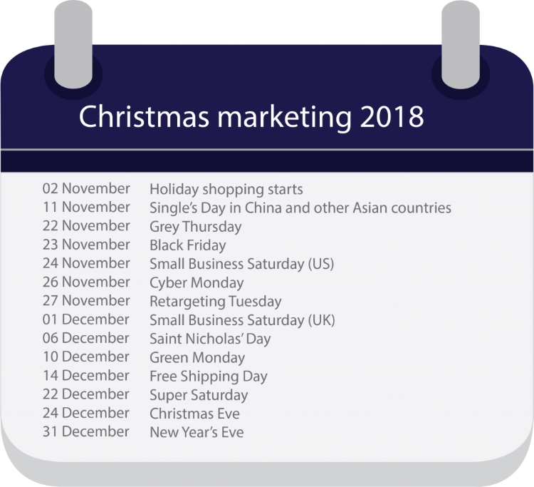 Blog Br24 Christmas marketing 2018: Calendar with the most important Christmas marketing dates 2018