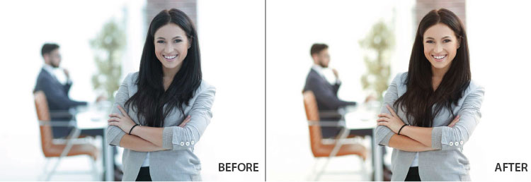 Br24 Blog Colour Correction: Before and after example of colour correction
