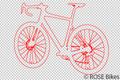 Br24: Example of clipping paths showing only the vector path of a bicycle