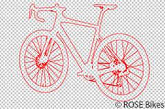 Br24: Beispiel für Freistellpfade, die nur den Vektorpfad eines Fahrrads zeigen
