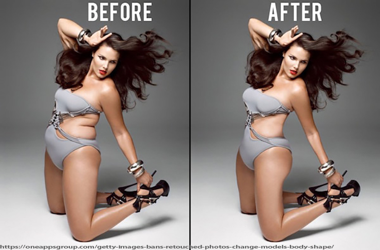 Br24 Blog Photoshop Law: before and after body retouching to meet the beauty ideal of today