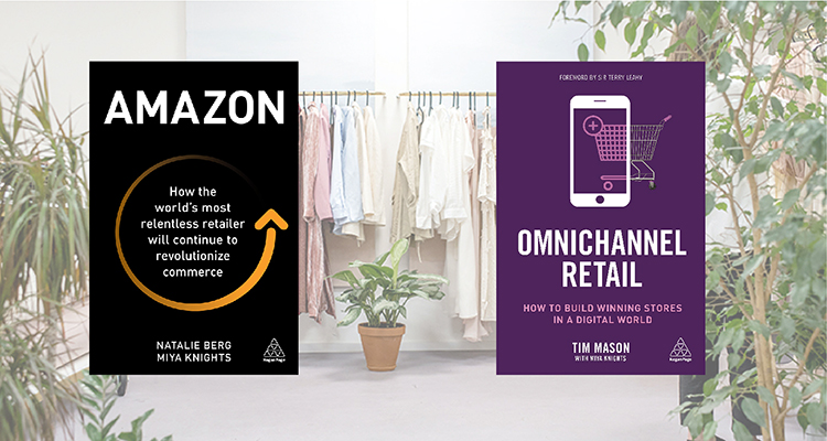 "Br24 Blog Interview Special with Miya Knights: Cover of two books by Miya Knights ""Amazon"" and ""Omnichannel Retail"""