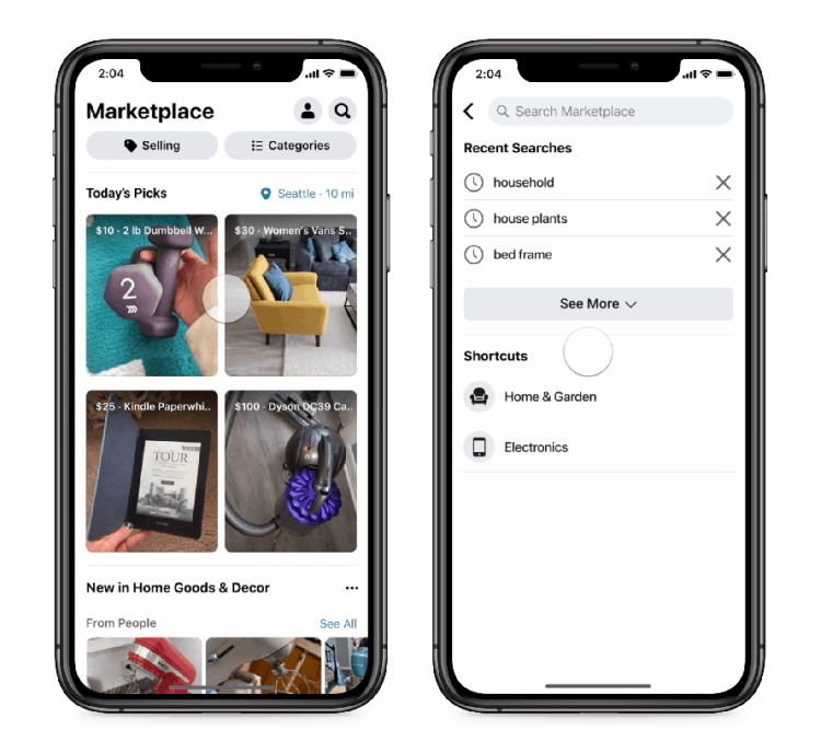 Br24 Facebook brings Shops to WhatsApp: View of Shops in Facebook Marketplace