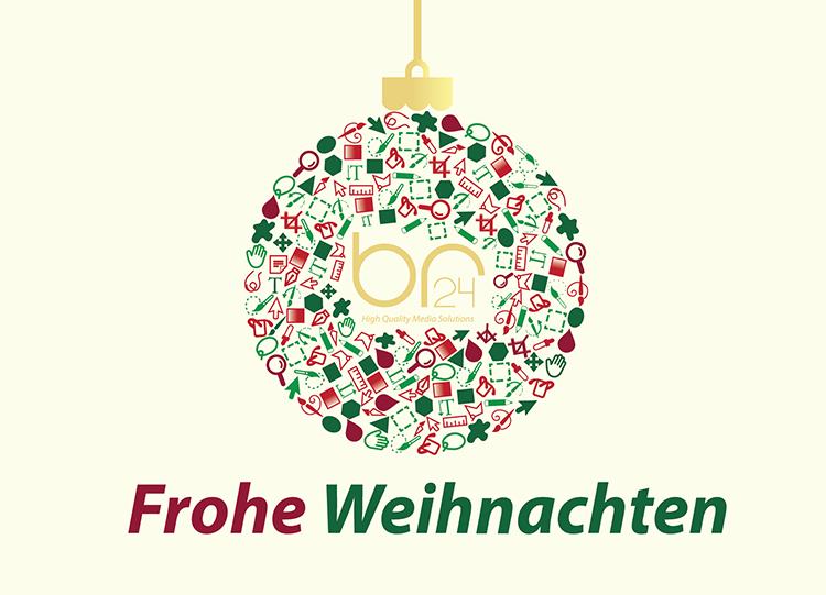 Br24 Weihnachtsmarketing Ideen: Weihnachtskugel mit Br24 Logo