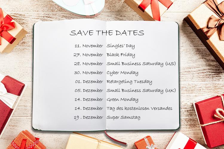 Br24 Blog Weihnachtsmarketing-Termine 2020: Notizbuch mit den wichtigsten Terminen fürs Weihnachtsmarketing 2020