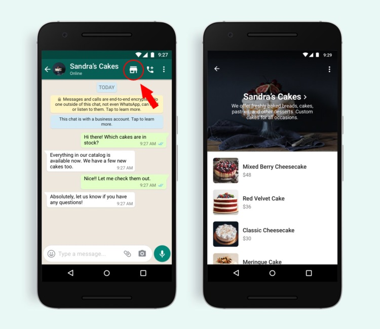 Br24 Blog WhatsApp introduces a new Shopping button: Shopping cutton in chat view and catalog view