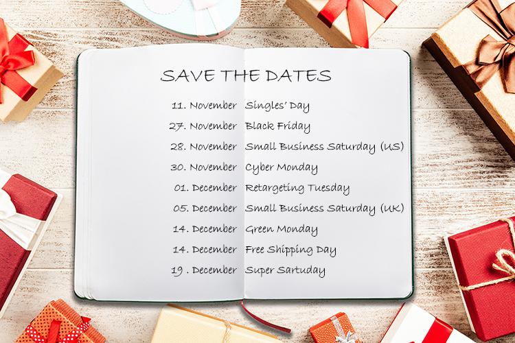 Br24 Blog Christmas marketing dates 2020: Notebook with the most important Christmas marketing dates 2020