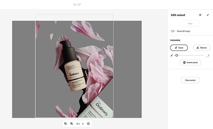 Br24 Wieviel kostet ein Freisteller und warum? Freisteller von Make-Up-Flaschen und Blütenblättern, erstellt mit dem Adobe Spark Tool zum Hintergrund entfernen