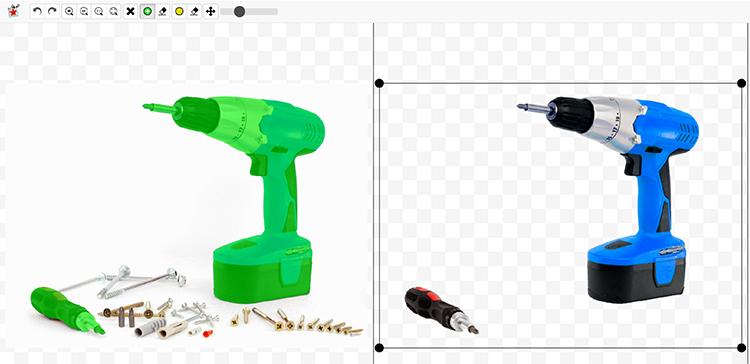 Br24 Wieviel kostet ein Freisteller und warum? Freisteller einer Borhmaschine, erstellt mit dem PhotoScissors Tool zum Hintergrund entfernen