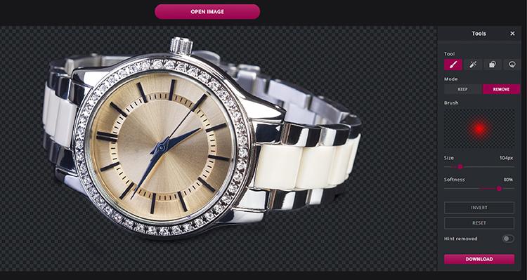 Br24 Wieviel kostet ein Freisteller und warum? Freisteller einer Armbanduhr, erstellt mit dem Pixlr Tool zum Hintergrund entfernen