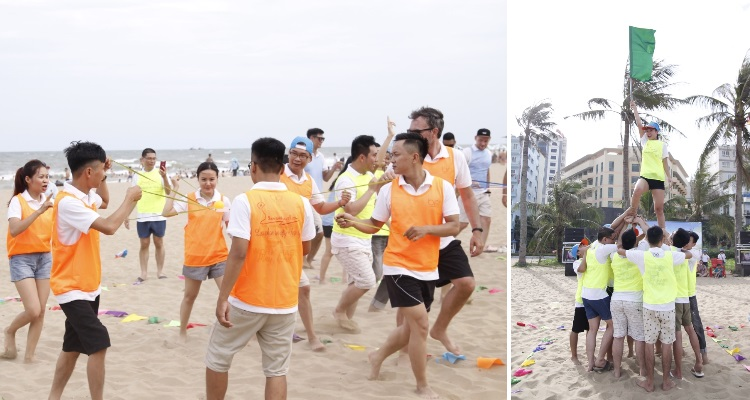 Br24 Blog Company Trip 2019: Team building photos on Sam Son beach, Vietnam
