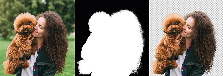 Br24 Blog Unterschiede Freisteller, Alphamaskierungen & Maskierungen: Drei Bilder, die drei Stufen der Alphamaskierung zeigen