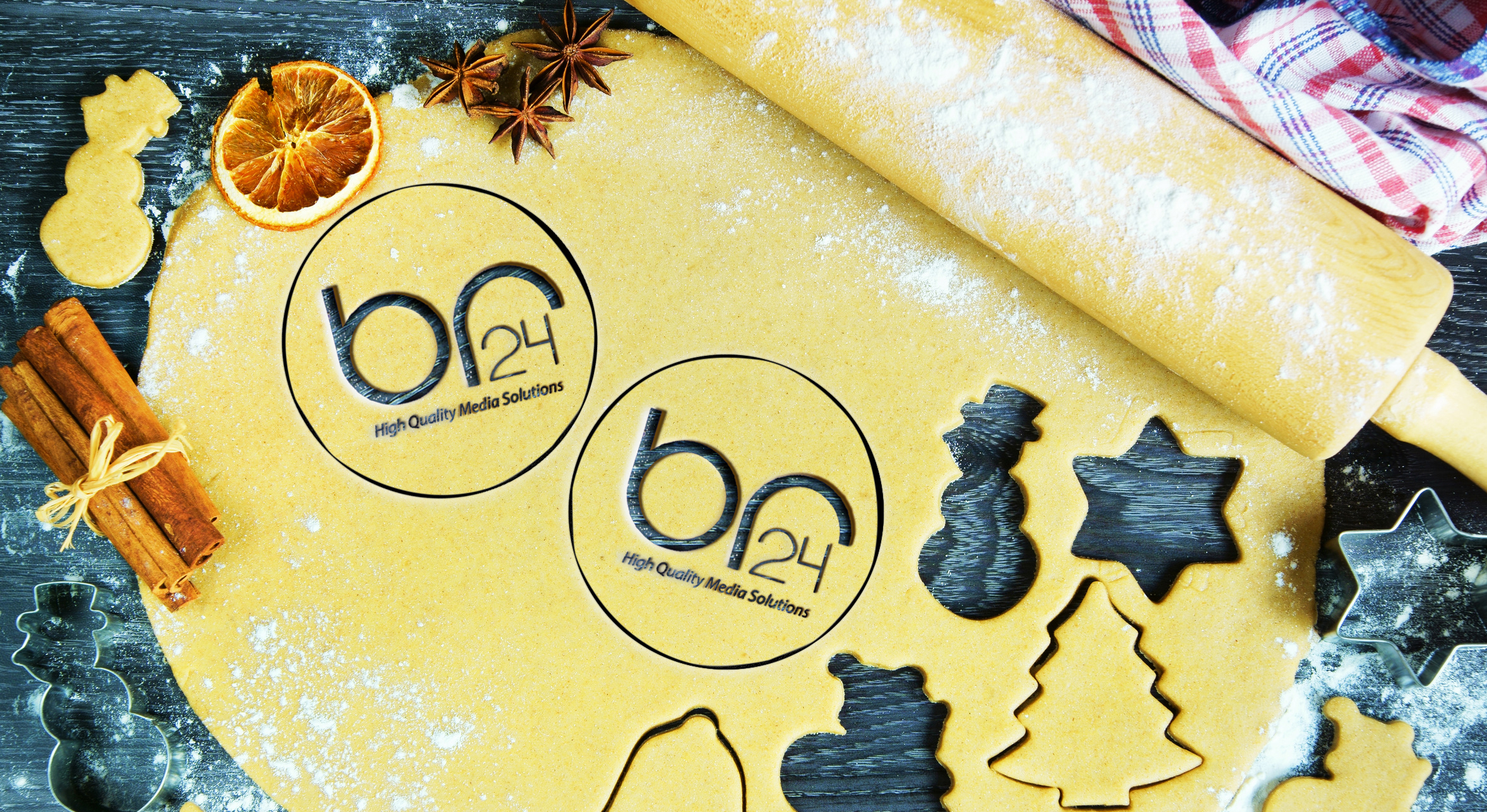 Br24 Home: Christmas Dough with Br24 logo cookie