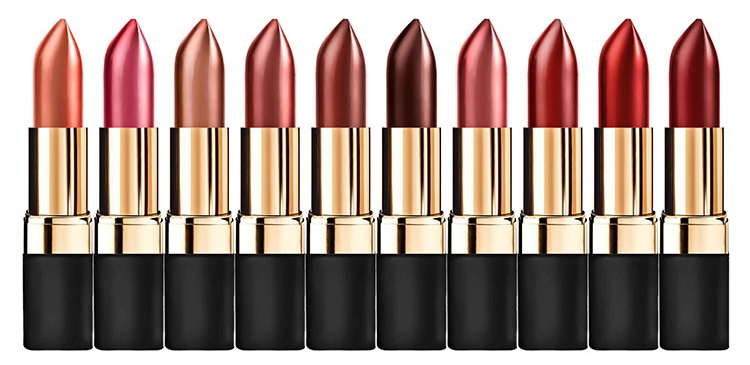 Br24 Recolouring: Product, a range of lipsticks in different colours, coloured using the recolouring method