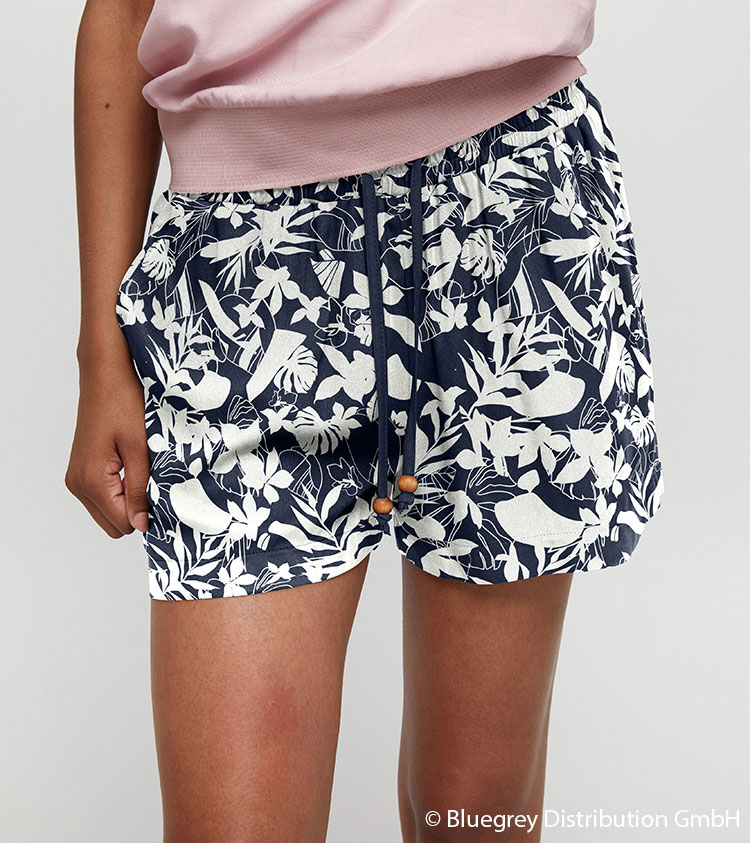 Br24 Recolouring: Product, shorts with blue and white patterns, coloured using the recolouring method