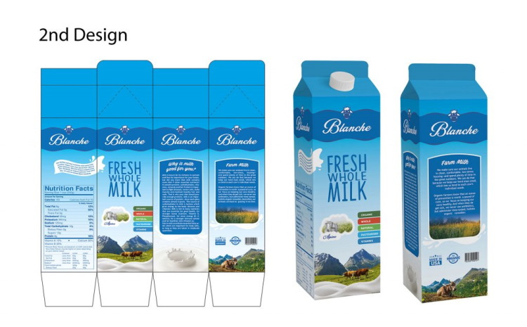 Br24 Layout: 2nd draft of milk packaging design