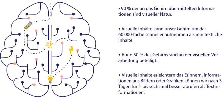 Br24: Infografik Fakten über die Bedeutung von Visuals im Zusammenhang mit menschlichem Gehirn