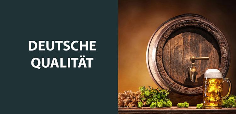 Br24: Gegenüberstellung Text und Bild - Deutsche Qualität und Bierfass