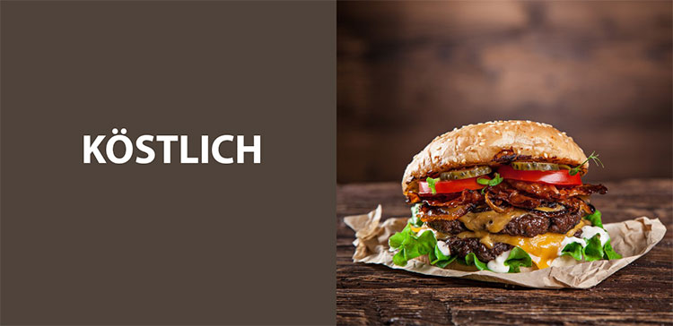 Br24: Gegenüberstellung Text und Bild – Köstlich und Hamburger