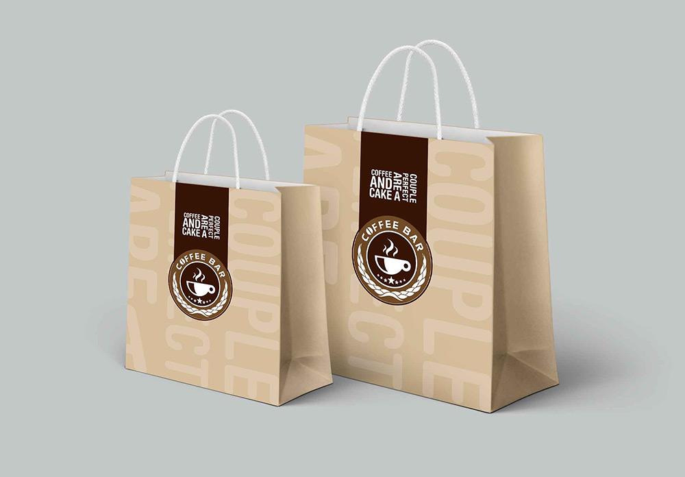 Br24 Verlage & Druck: Layout Design für Tüten einer Kaffee Bar