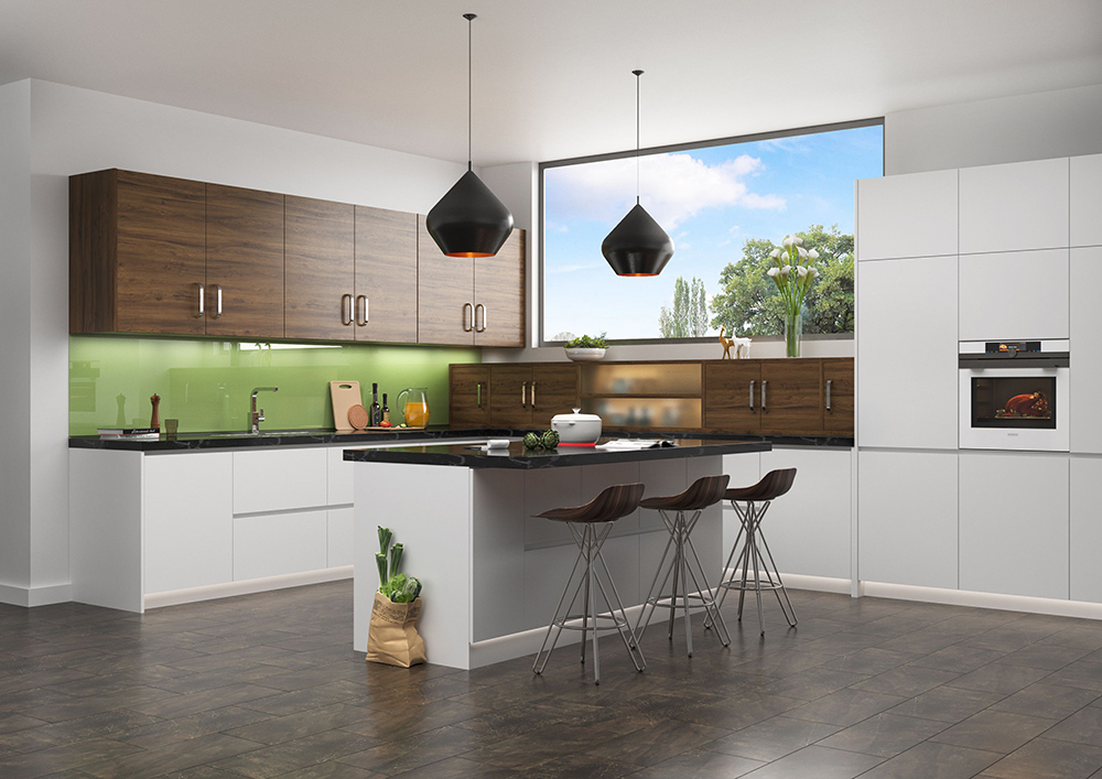 Br24 Immobilien: Interieur CGI/3D moderne Küche