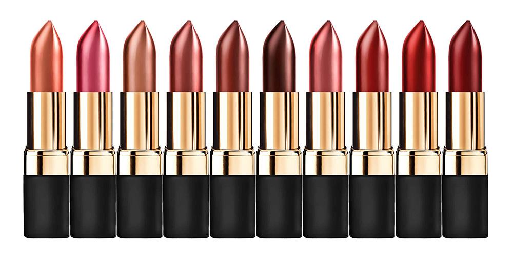 Br24 Farbkorrektur & E-Commerce: Werbung Lippenstifte in verschiedenen Farben