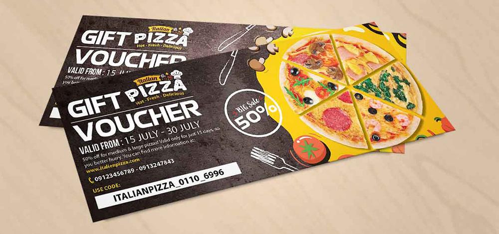 Br24 Layoutgestaltung: Werbung, Gutschein für Pizza Promotion