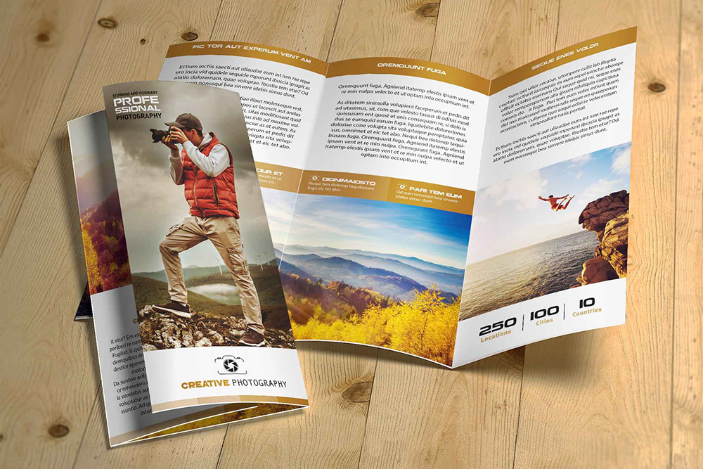 Br24 Verlage & Druck: Layout Design eines 3-faltigen Flyers
