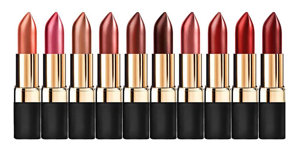 Br24 Colour Correction & E-Commerce: advertising lipsticks in different shades