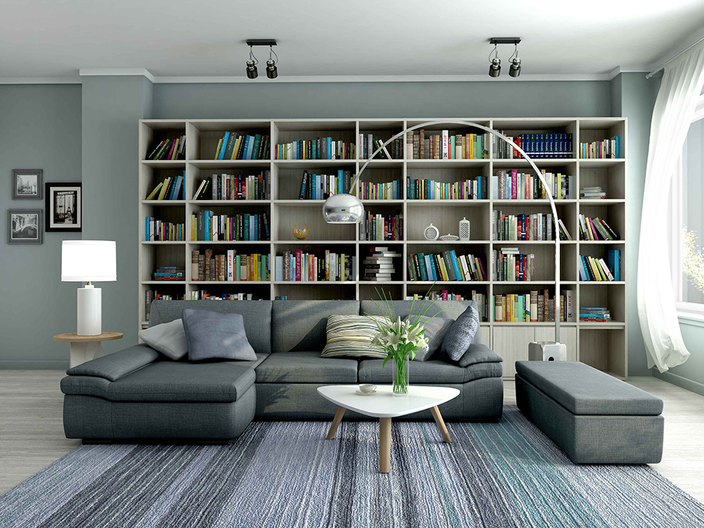 Br24 CGI / 3D: living room as 3D model after rendering