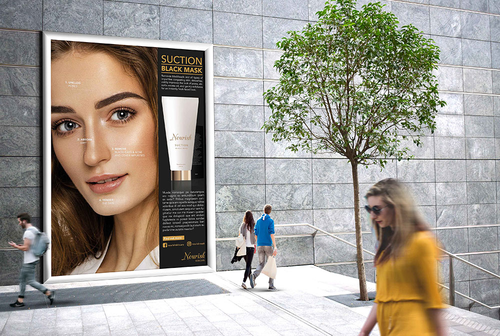 Br24 Br24 Werbung & Marketing: Reklametafel für Kosmetik, Anti-Aging-Creme